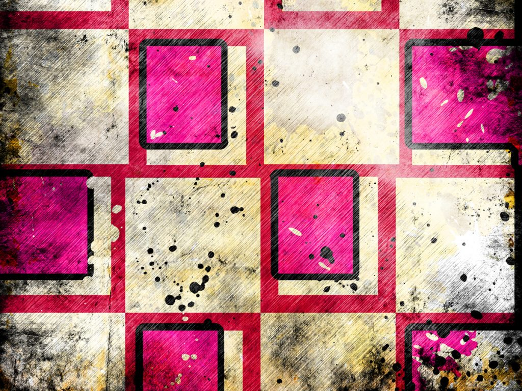 abstract image of red and pink sqaures